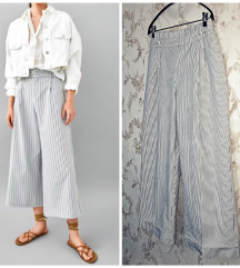 Zara - M / 38 - nove striped culottes
