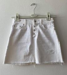 ZARA bijela jeans mini suknja