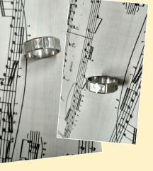 Vintage prsten iz 1980ih, srebro