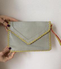 Clutch mala torbica roza siva žuta