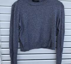 BERSHKA knitwear siva majica