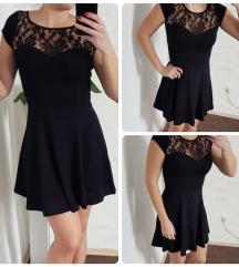 Mala crna haljinica čipkasta