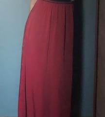 Duga crvena suknja
