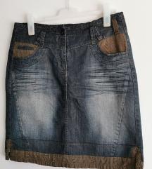 Denim suknja L