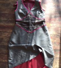 Haljina dizajnerska kombinacija boja i materijala
