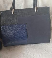 Plavkasta rucna torba novo