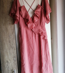 Asos roza haljina
