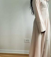 Zara krem jesenska haljina