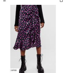 Midi cvjetasta suknja