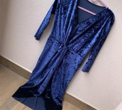 Predivna haljina kraljevsko plava plisirana