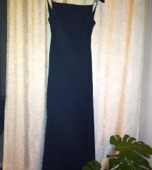 Duga crna večernja haljina SVILA
