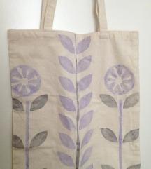 platnena torba/ flowers. /ručni rad