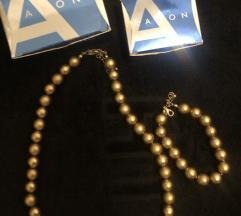 Ogrlica i narukvica zlatne perle