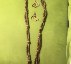 Ogrlica i naušnice Rucni rad
