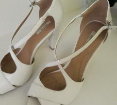 Geox bijele kožne sandale, kao NOVO