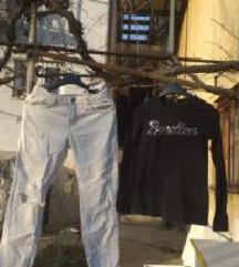 Zara hlace +BENETON traper jakna i majca36