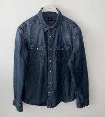 Muška Jeans košulja(tamna)(poš. u cijeni)