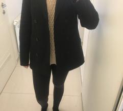 Tamno Sivi vuneni blazer kaput vel S-M