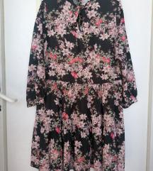 Široka haljinica svilena