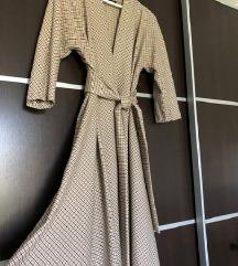 ZARA midi karirana haljina