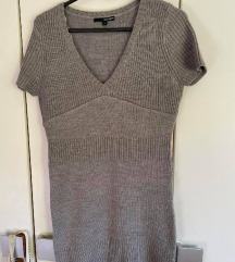 Siva pletena haljina