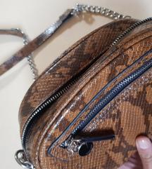 Smeđa torbica s uzorkom, kao NOVA!