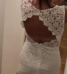 Bijela čipkana haljina NOVA Sniženo!!!