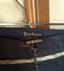 tamno plava Barbour lanena suknja