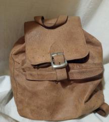 Retro ruksak od prave kože