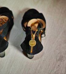 AKCIJA Crne Geox Respira sandale