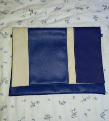Plava-bež pismo torba