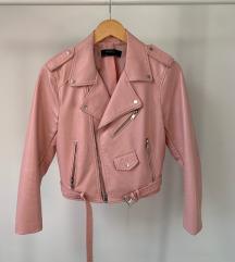 Kožna roza Zara jakna