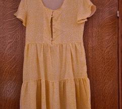 Svijetlo žuta ljetna haljina
