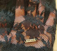 Pepe Jeans čipkana haljina,otvor na leđima XS/S