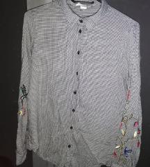 H&M košulja sa cvjetnim vezom 40