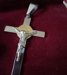Privjesak križ čelik