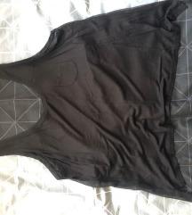 Hm prozirna crna majica bez rukava