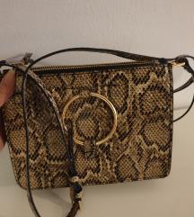 MANGO torbica sa zmijskim uzorkom