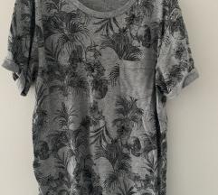 Siva H&M print majica muska