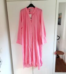 Zara lanena kosulja haljina