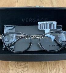 VERSACE  Gold/Gray Cat Eye Frames