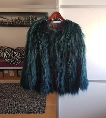 Sniženo 250 kn! 💙❄ MANGO smaragdno zelena bunda