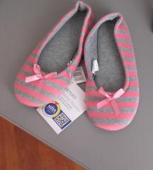 Roza sive papučice - Novo s etiketom