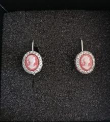 Tradicijske srebrne cameo naušnice
