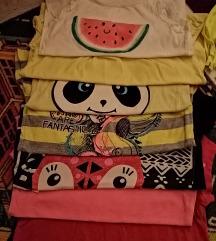 lot majica za djevojčice od 5 do 7 god, 5 kn