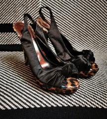 Sandale na visoku petu s leopard uzorkom