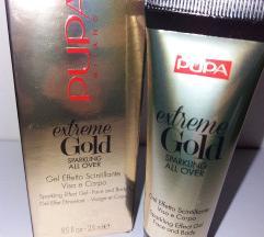 Pupa - zlatni glitter gel