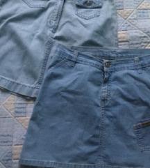 % Dvije traper suknje LOT