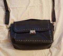 crna fejk kožna torba (Sinsay)