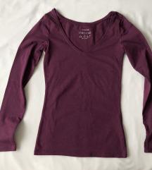 Primark bordo majica s V izrezom